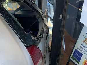 Car smashes into shop: elderly driver taken to hospital