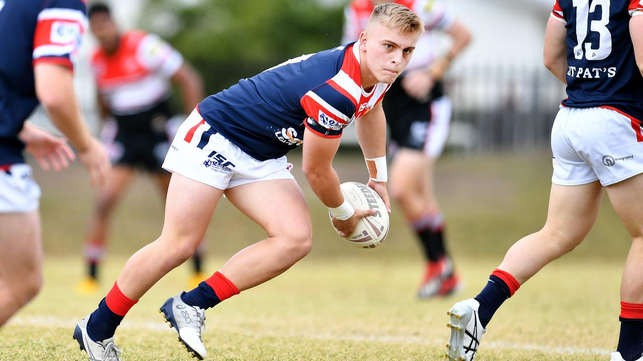 Aaron Payne Cup Semi Final; Kirwan State High School Vs St Patrick's College in Townsville. St Pat's Toby Thorburn. Picture: Alix Sweeney