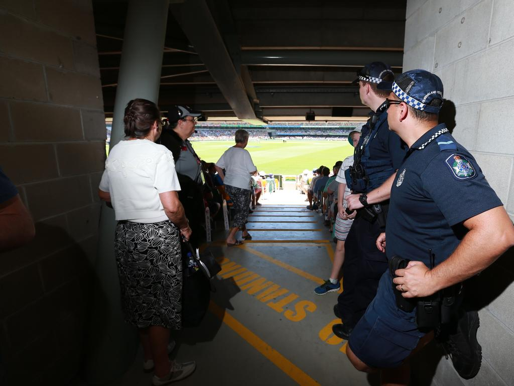 The Gabba concourse can be narrow in parts and plans are underway regarding moving people safely during the grand final. Picture: Adam Armstrong