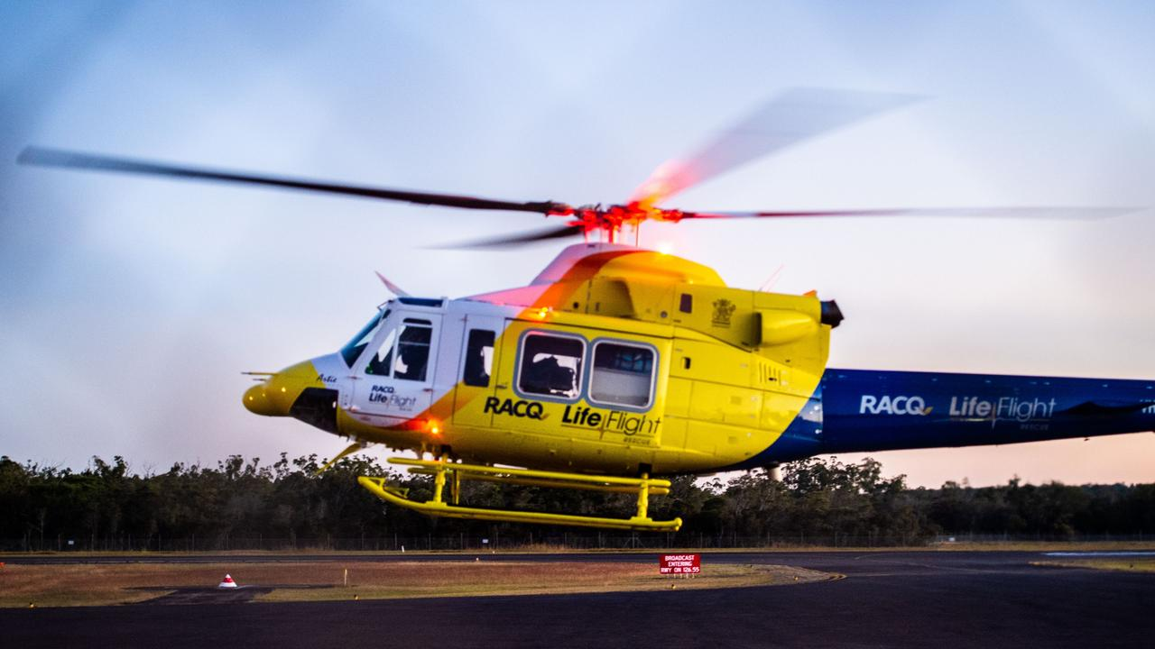 File photo: RACQ LifeFlight flew a teenage girl to hospital this morning after she fell from a horse. Picture Cody Fox NRM