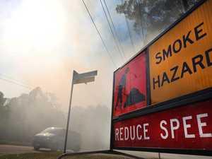 Smoke warning as hazard reduction burn begins