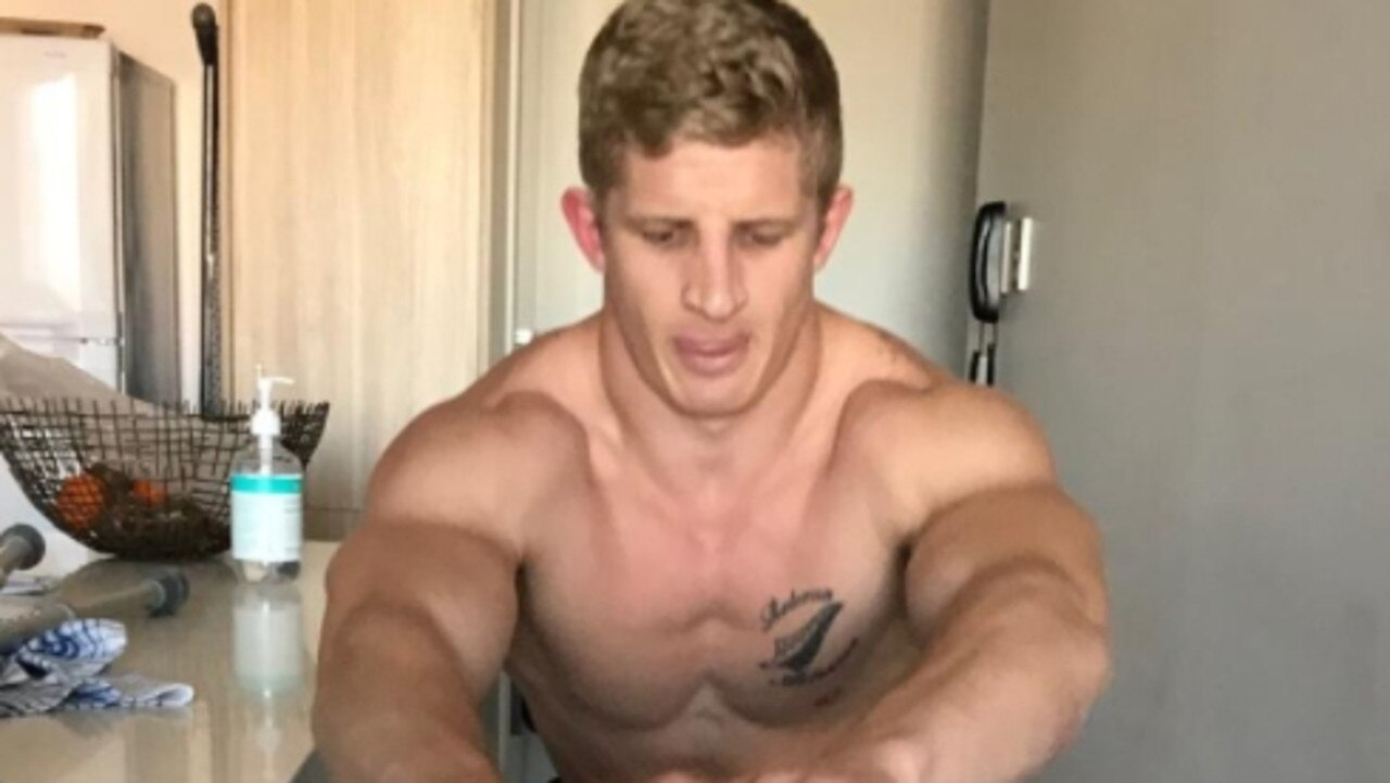 Footballer Rogan Dean is showing unbelievable bravery after losing his left foot in a freak motorbike accident a fortnight ago