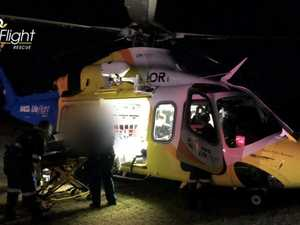 Teenager flown to hospital after collision with tree