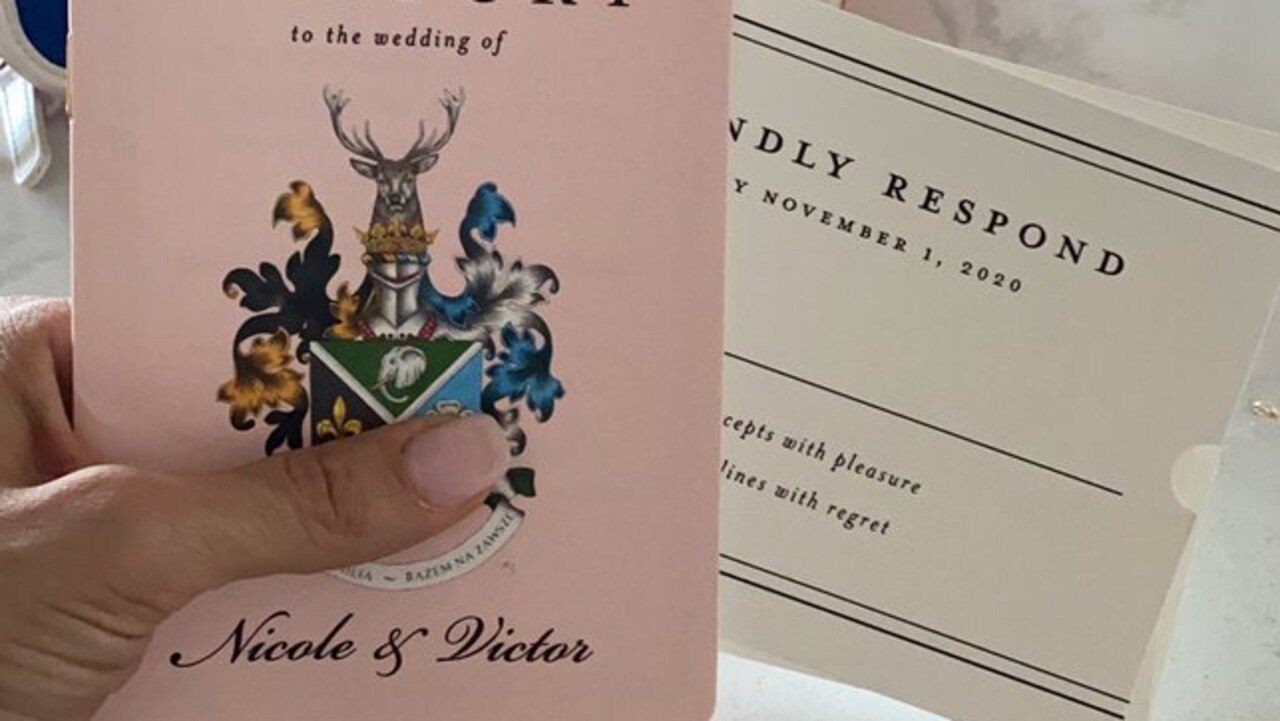 The wedding invite was posted to social media.