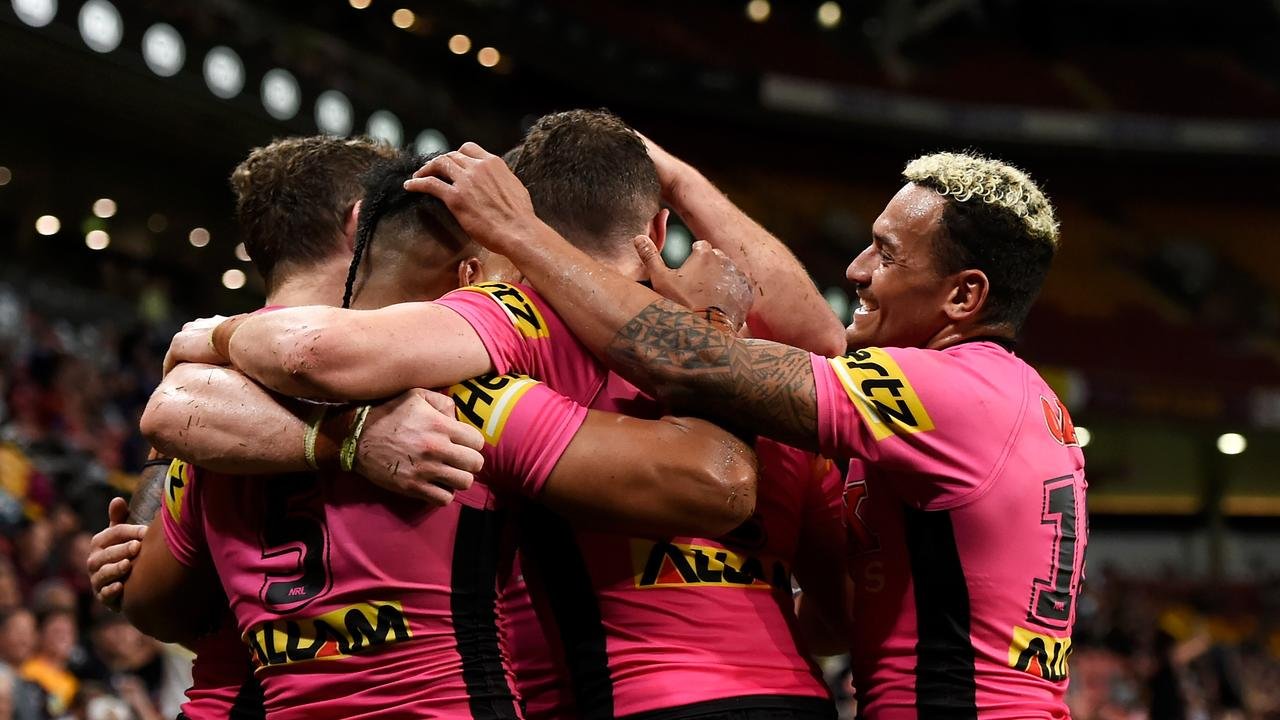 Nathan Cleary's Panthers are on top of the world. Picture: Albert Perez/Getty