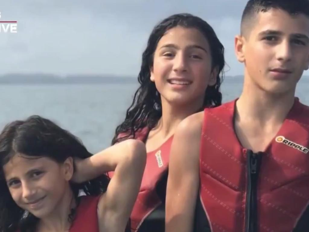 Sienna, Angelina and Antony Abdallah, who died on February 1. Picture: 7 News