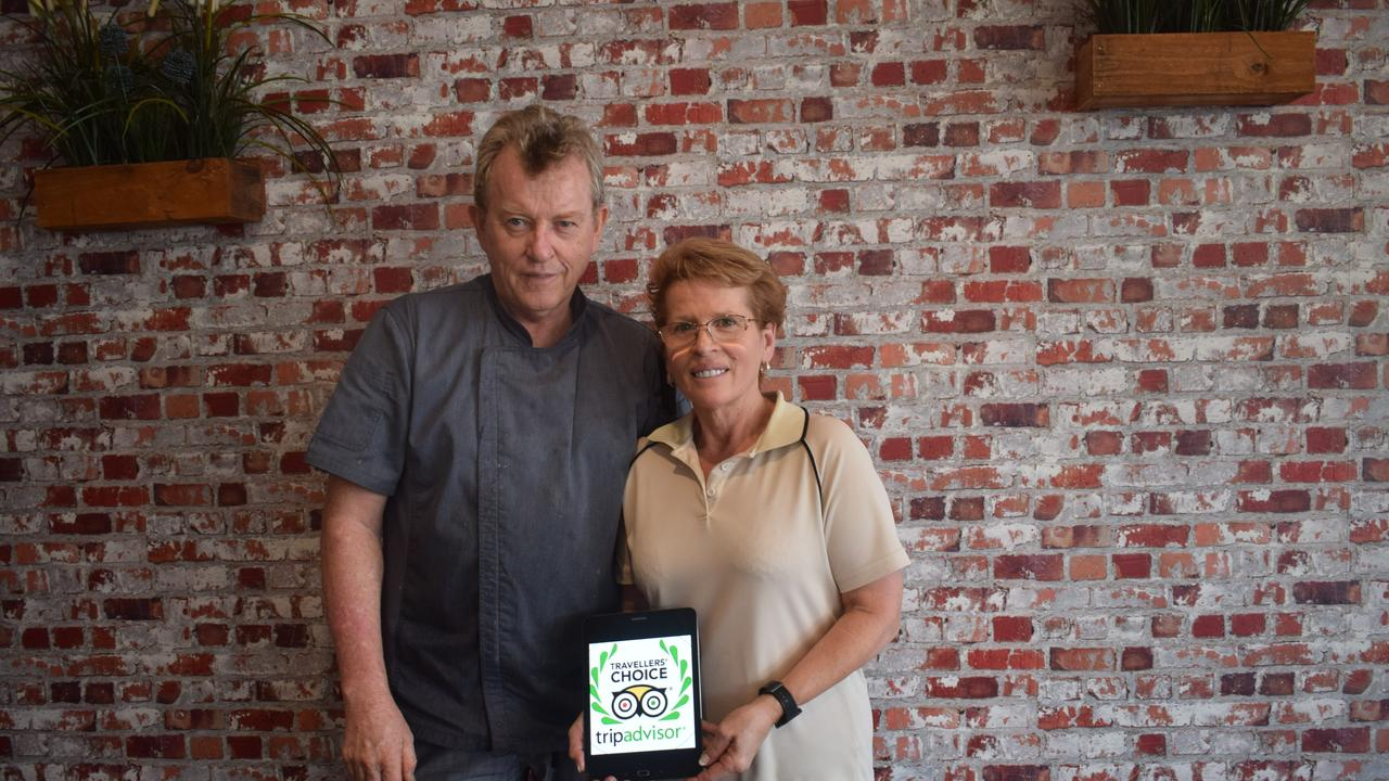 Fresh Fix Cafe owners Janine and Tim Cree were over the moon to have won TripAdvisor's Travellers' Choice award. Their café is in the top 10 per cent of restaurants and cafes in the world