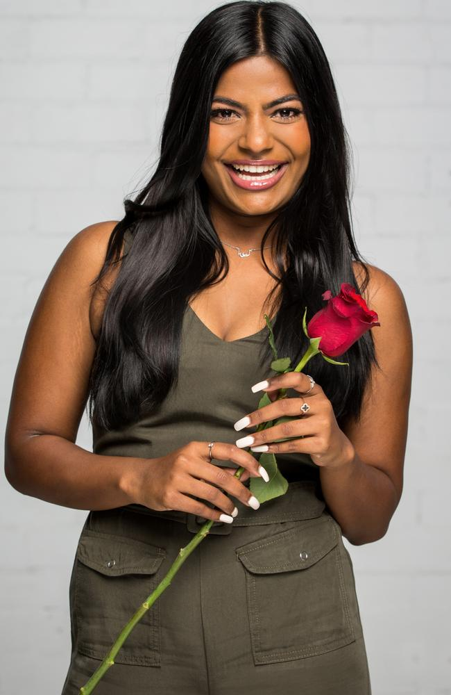 Areeba Emmanuel was eliminated in last night's episode of The Bachelor. Picture: Channel 10.