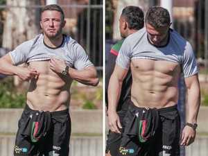 Burgess shows off stunning weight loss