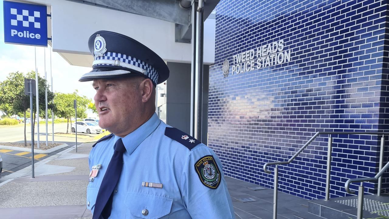 Tweed Byron Police District commander acting superintendent Cameron Lindsay. Photo: Jessica Lamb