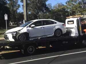 Police track driver after he bails on crash scene