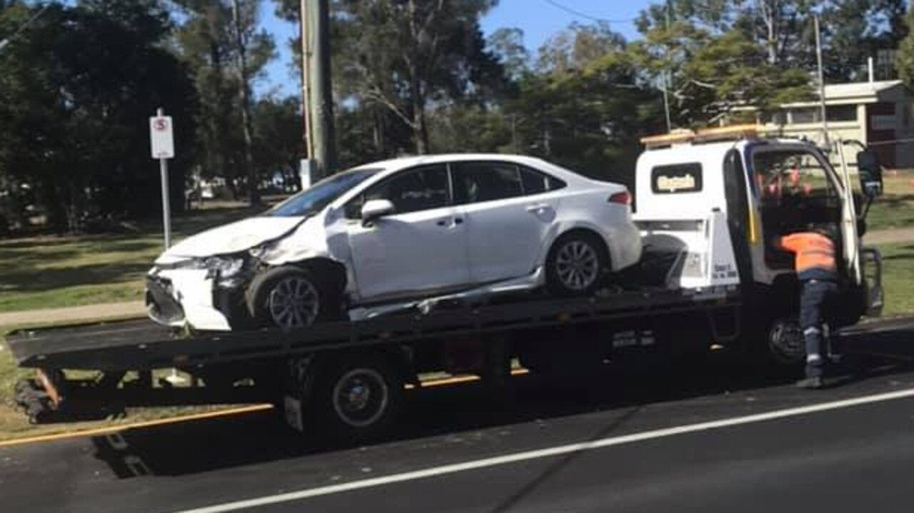 A man is in police custody after crashing his car and leaving the scene in Noosaville. Photo: Teddy McRitchie