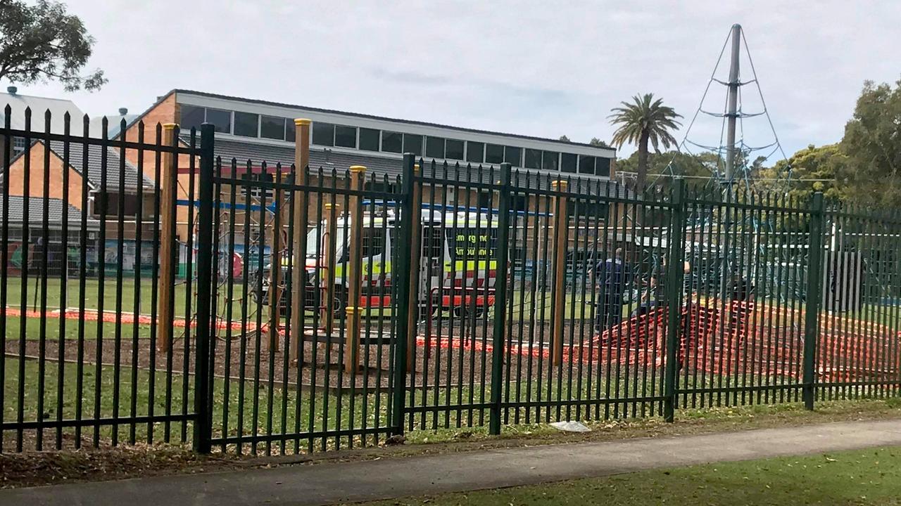 Ambulance at Ballina Primary School.