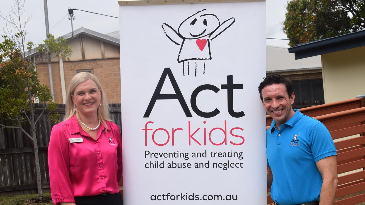 Act for Kids Chief Executive Officer Dr Katrina Lines and Stephen Beckett