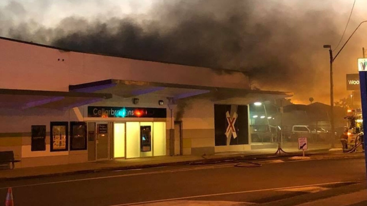 A fire broke out at the Walkerston Woolworths complex on July 30, 2018.