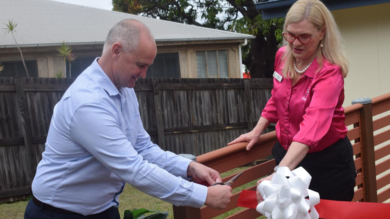 Member for Gladstone Glenn Butcher and Act for Kids Chief Executive Officer Dr Katrina Lines officially opened Act for Kids, a specialist therapy service for children who have been sexually abused and assaulted.