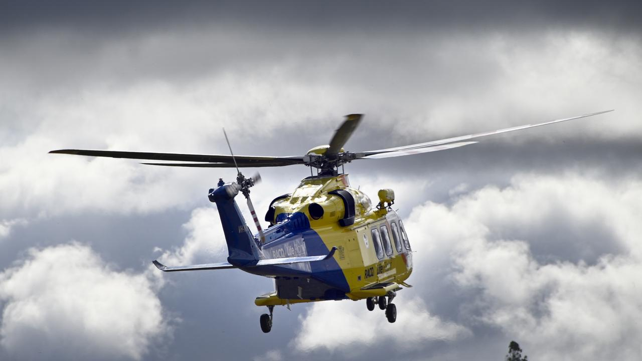 The rescue helicopter has been called to Rainbow Beach after a man was hurt while paragliding.