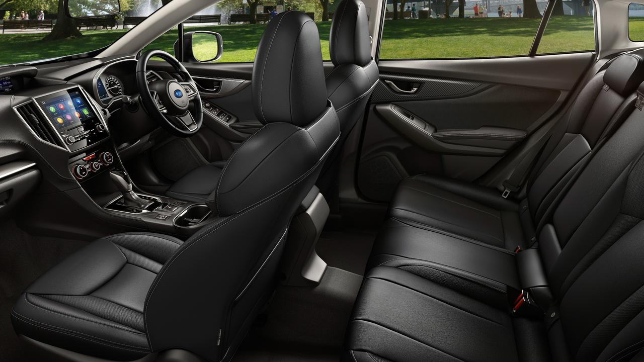 Four adults can find comfort in the Subaru Impreza 2.0i-S.