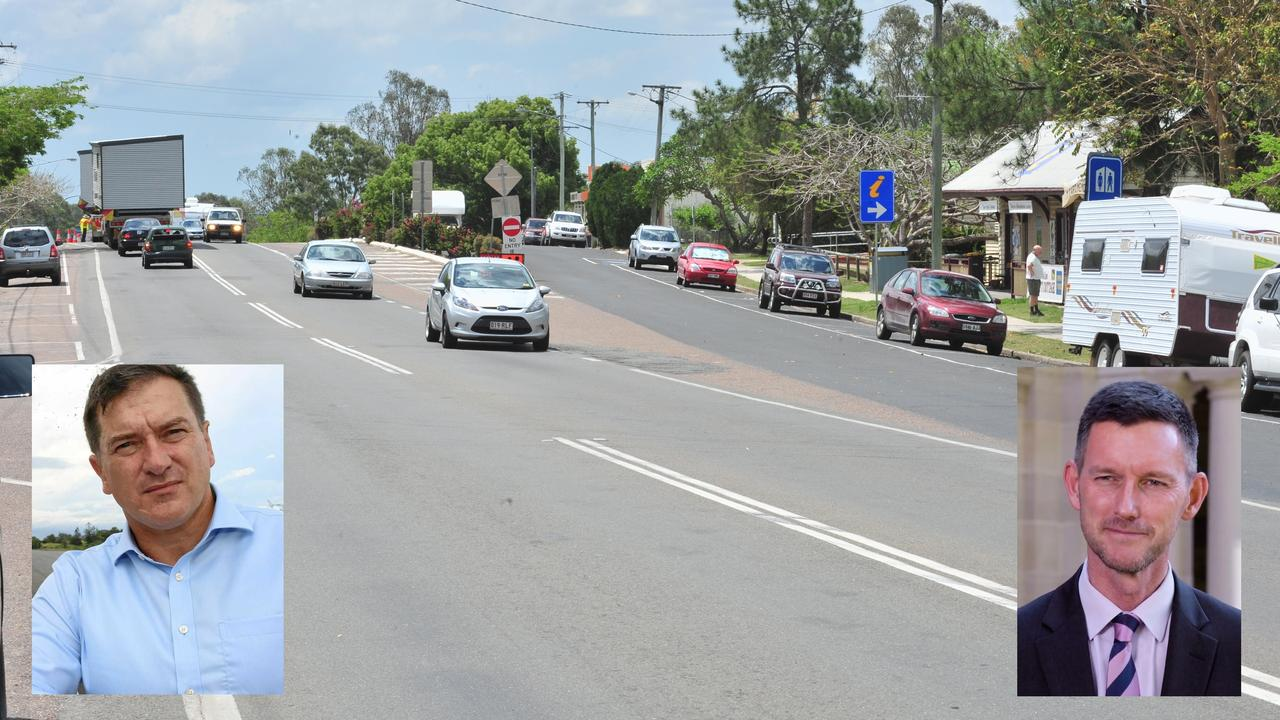 Wide Bay MP Llew O'Brien and Queensland's Minister for Roads and Transport Mark Bailey have exchanged harsh words over the proposed Tiaro bypass this week.
