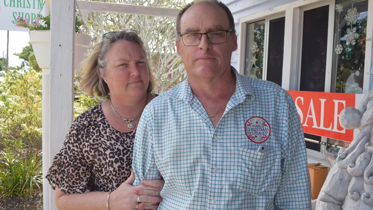 TIARO BYPASS: Owners of Tiaro Christmas Cottage Jenny and Grant Wood. Photo: Stuart Fast