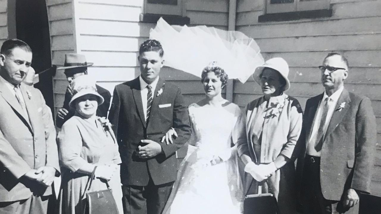 Neville Manteufel, from Blenheim, and his wife June when they married on July 8, 1961.