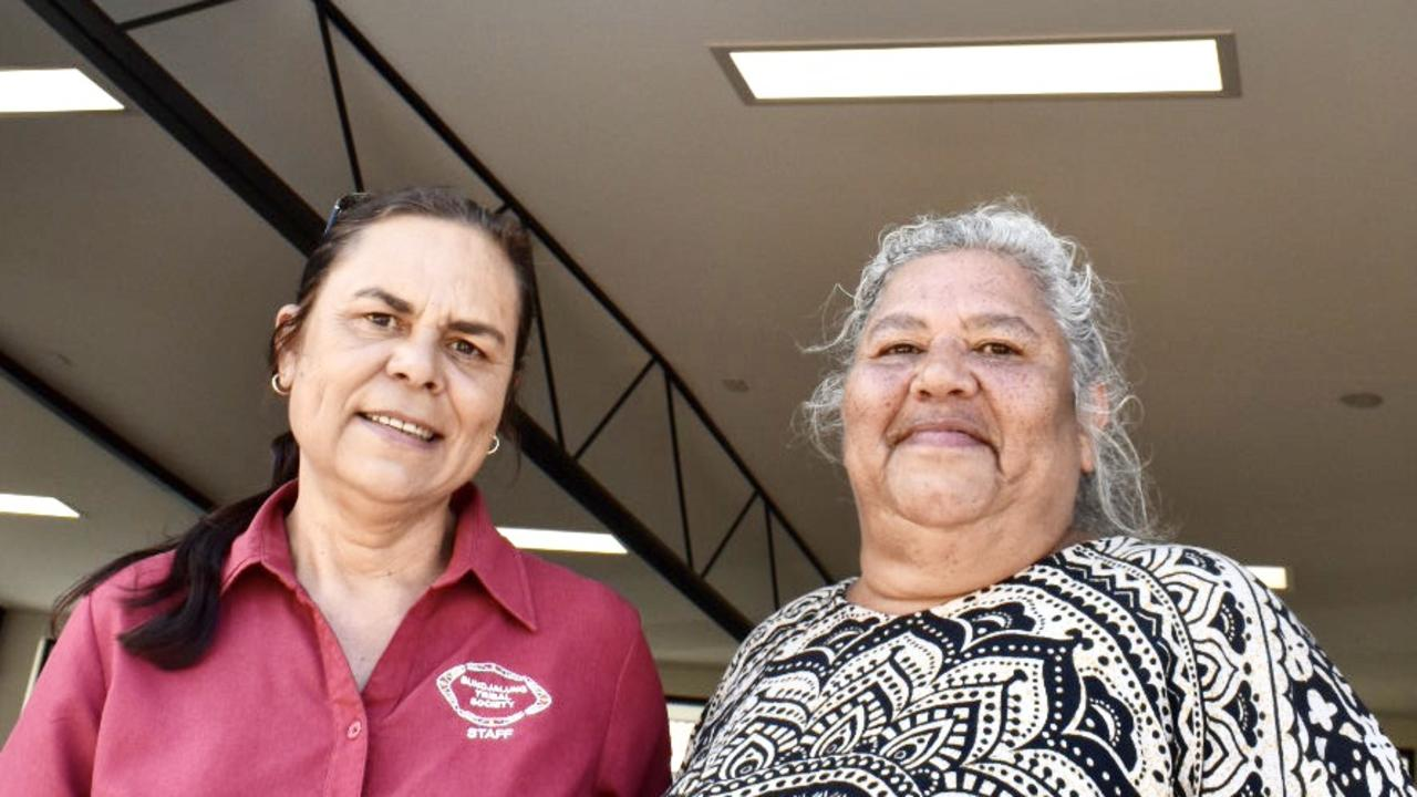 Manager Bundjalung Tribal Society Melissa Bolt and Cultural Trainer Tracy King at the opening of the new North Coast Community College Primary Industries Training Centre in Wollongbar.