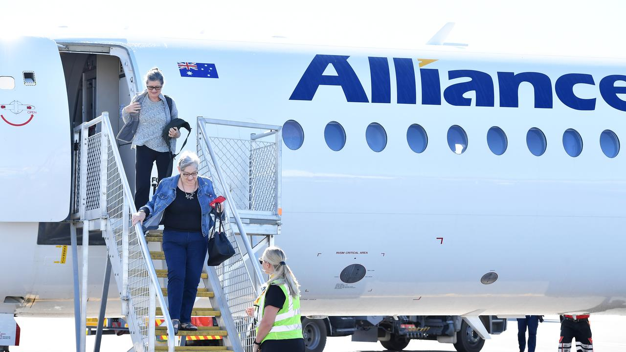 Sunshine Coast Airport has spread its wings to fly north for the first time ever, officially launching its inaugural Alliance Airlines service to Cairns today. Photo Patrick Woods / Sunshine Coast Daily.