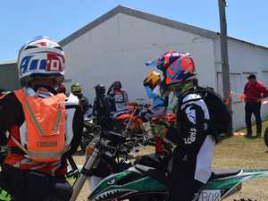Riders prepare for an afternoon of racing at the Don