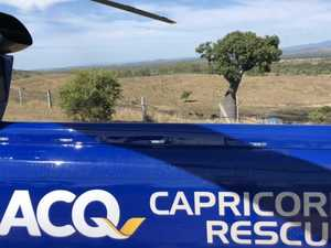 RACQ helicopter flies to aid of man who fell down stairs