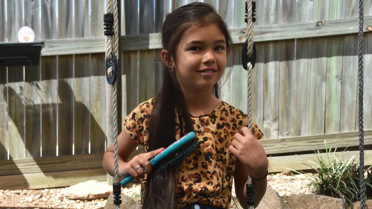 Seven-year-old Charlotte Gallagher said she wanted to donate her hair to raise money for charity and help people who need it.