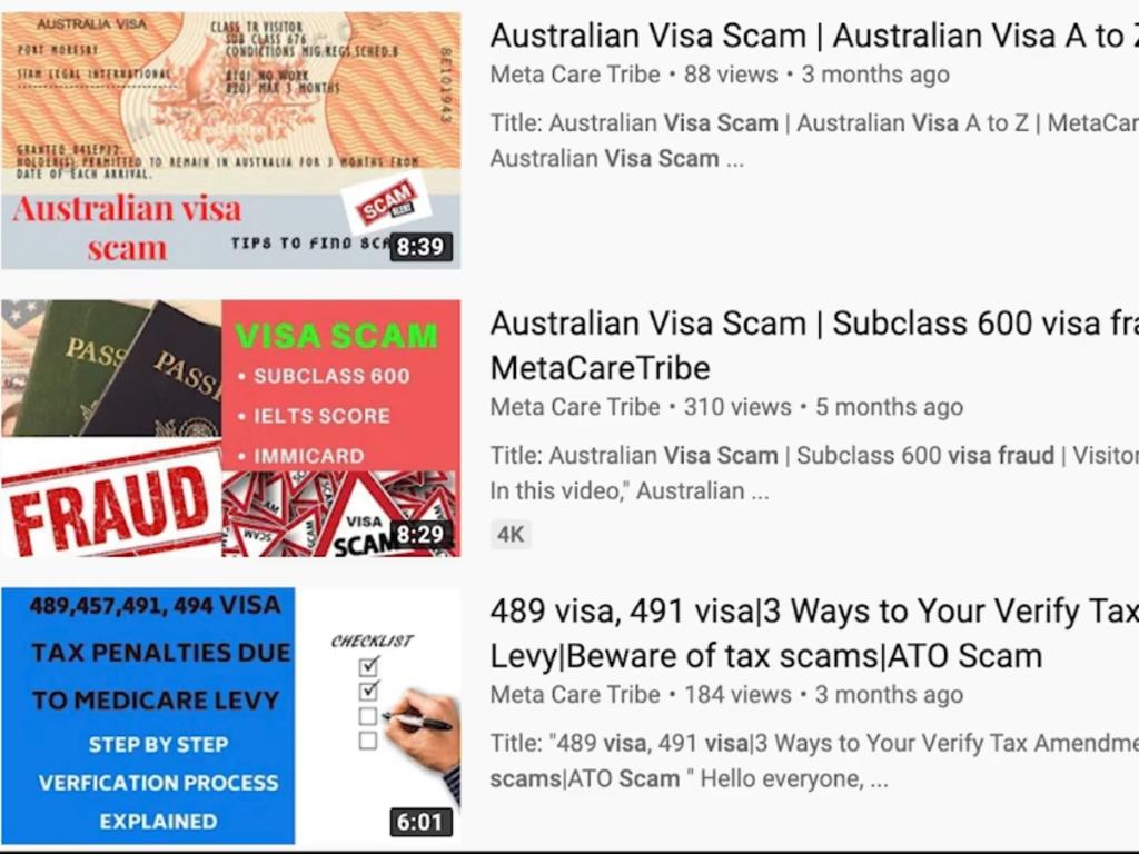 Visas to Australia are being sold for up to $10,000 in an international scam.