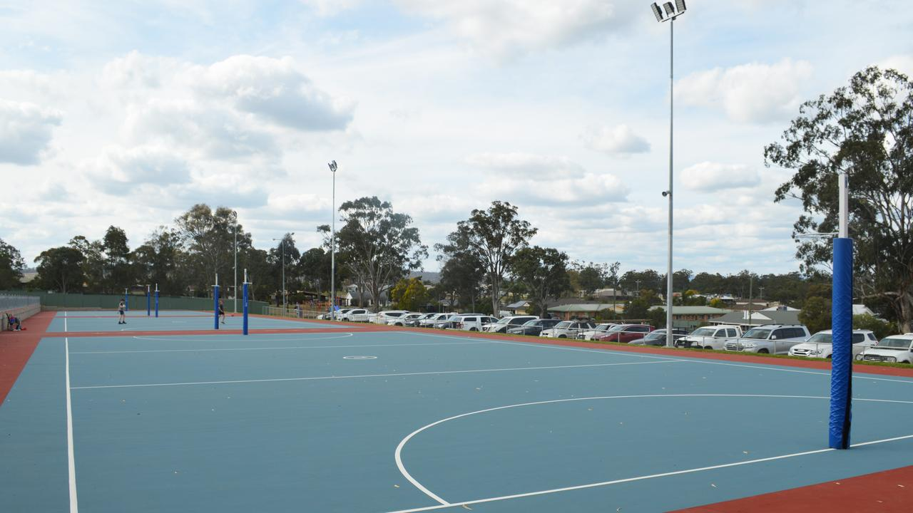 DIRE STRAITS: Before the Warwick Netball Association's revamp, two of the courts were left unusable due to safety concerns.