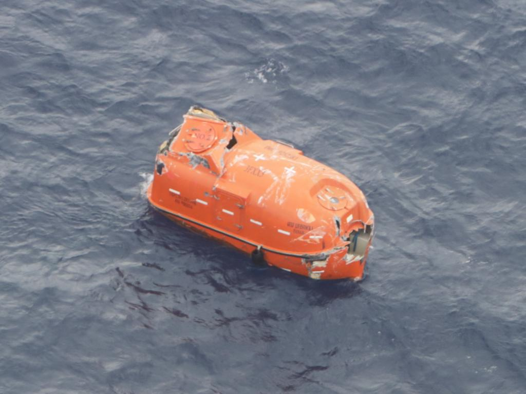 A lifeboat found in the rescue site of capsized cattle ship Gulf Livestock 1 in the East China Sea. Photo by Japan Coast Guard, 10th Regional Coast Guard Headquarters via Getty Images)