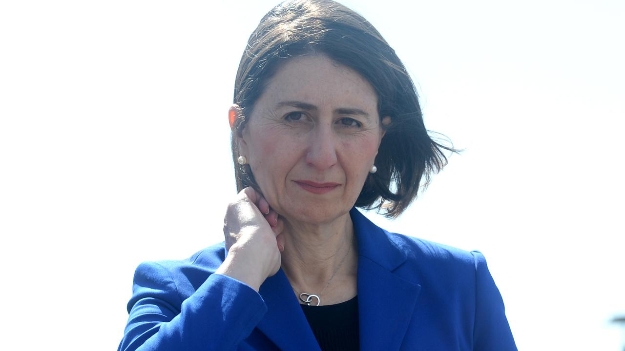 NSW Premier Gladys Berejiklian said she feels disappointed people can't visit their dads in aged care this Father's Day. Picture: NCA NewsWire / Jeremy Piper
