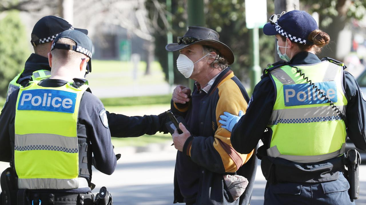 Protests have already taken place during lockdown. Picture: David Crosling/NCA NewsWire.