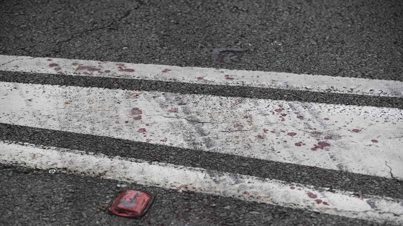 Blood on the road. (News Corp/Attila Csaszar)
