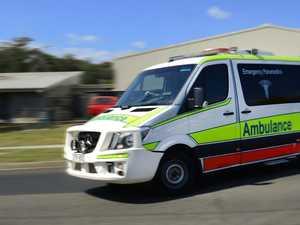 Rider suffers chest injuries in motorbike smash
