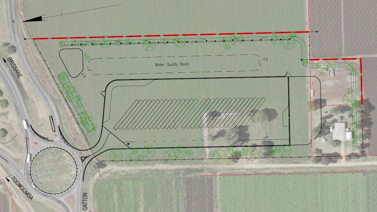 Plans for the road train facility on the Warrego Highway at Gatton.