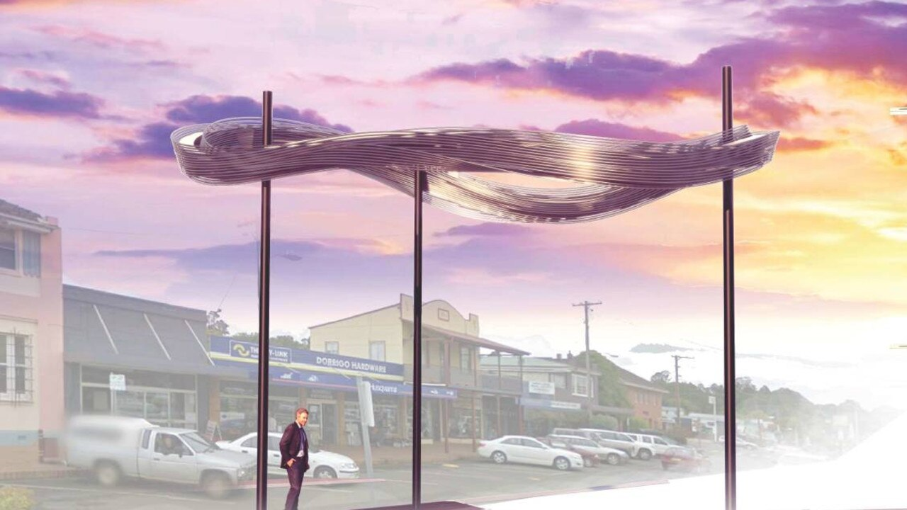 The sculpture has been approved by Bellingen Shire Council.