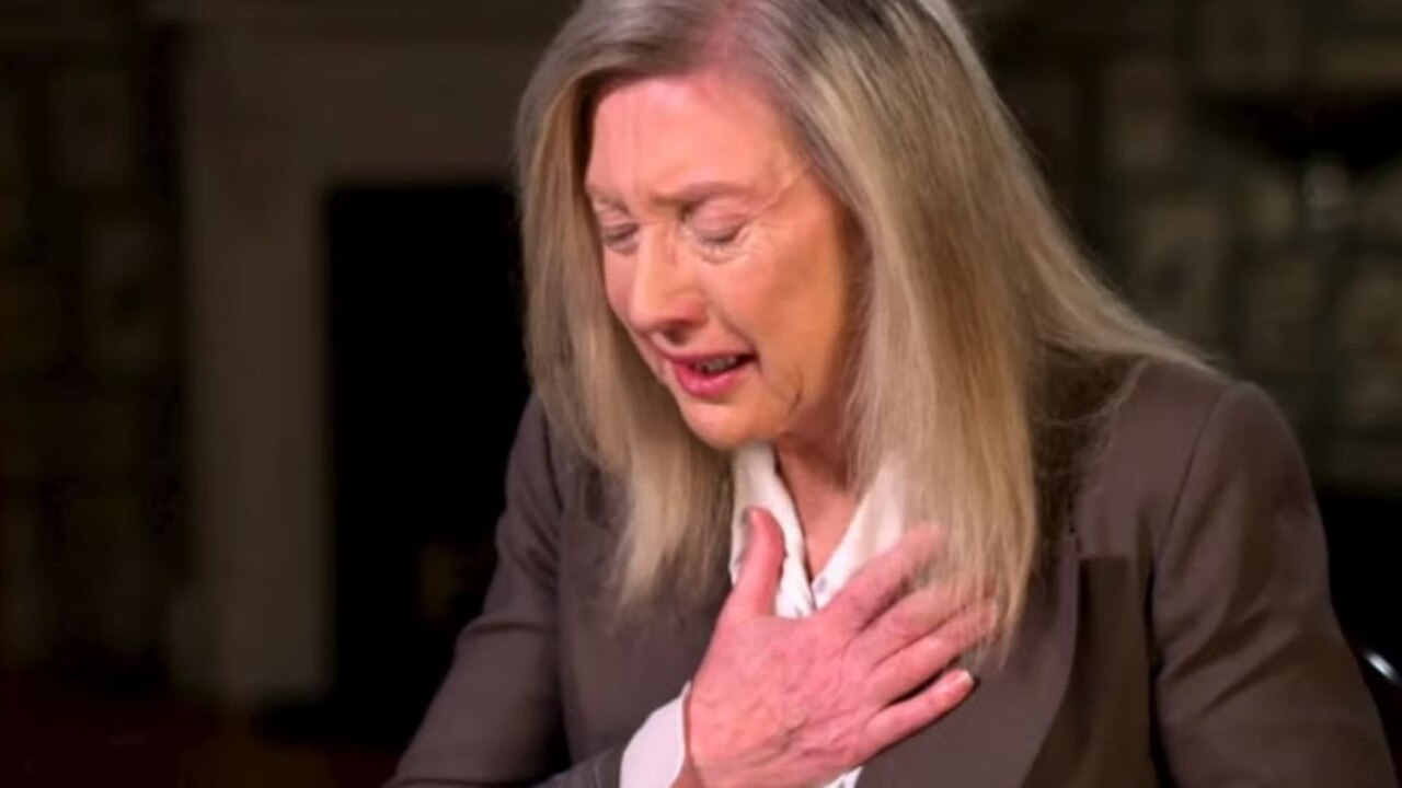 Therese grew emotional during her interview with Brown. Picture: 60 Minutes