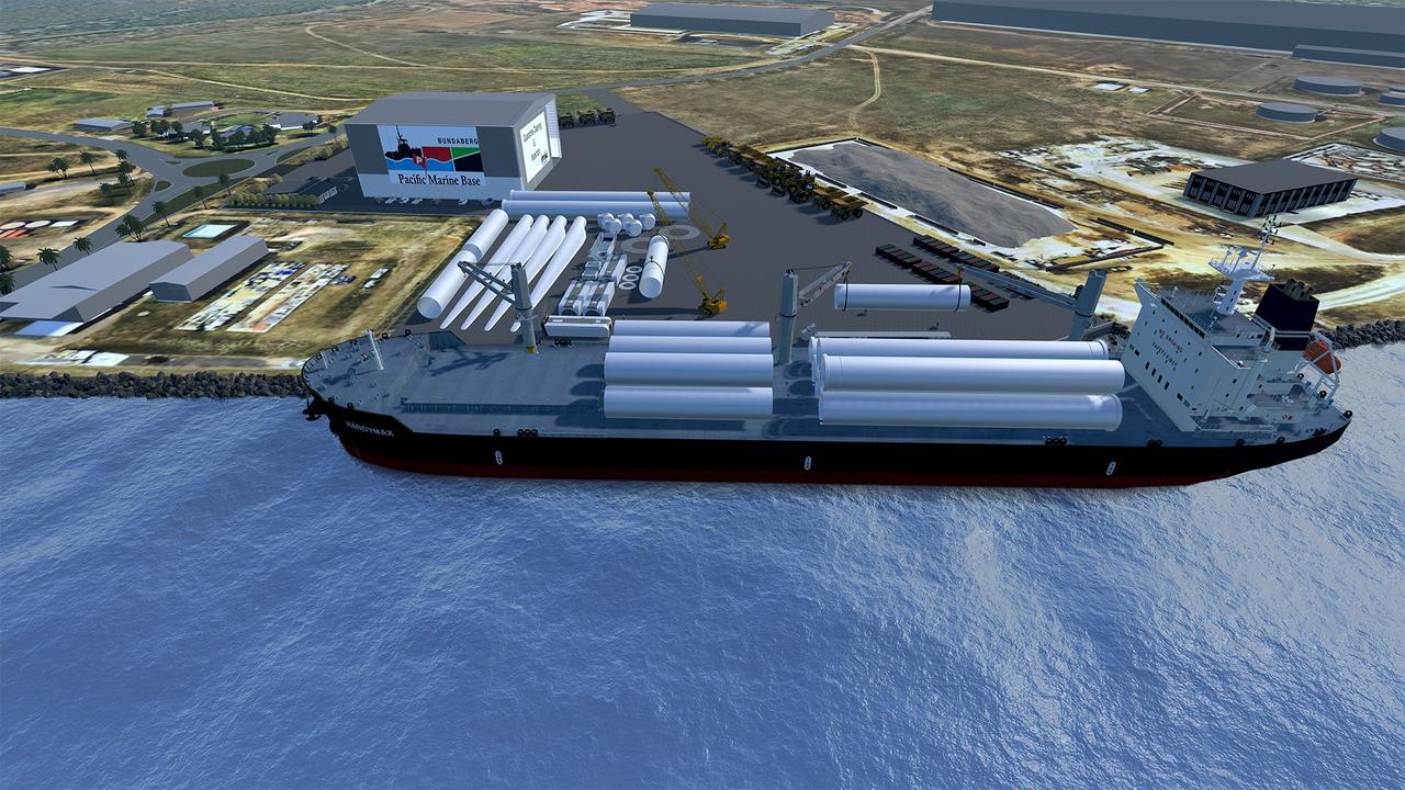 DEVELOPMENT ON COURSE: One scenario for Pacific Marine Base Bundaberg.