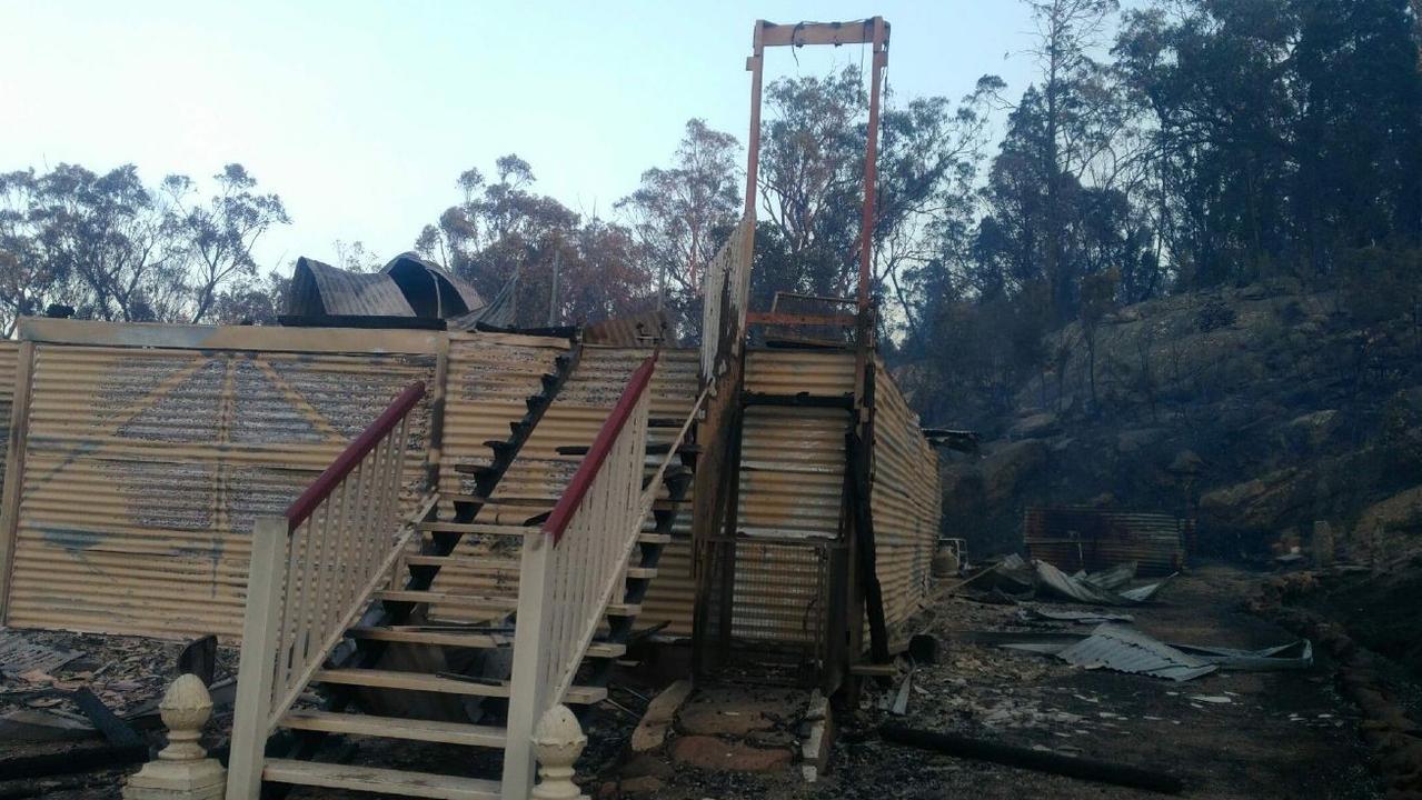 Fire tore through Sharon Baker's Nelson Crescent home last September, when bushfires ravaged the region.