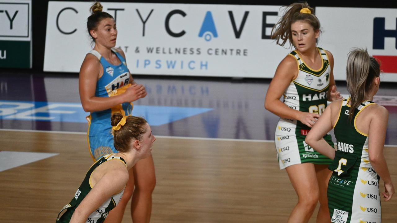 Intense concentration on show from the USQ Ipswich Jets v Thunder Sapphire Series match. Picture: Ipswich Jets Media