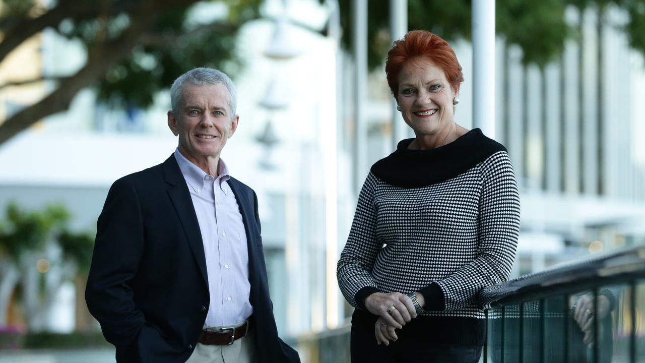 Senators Pauline Hanson and Malcolm Roberts. Pic Peter Wallis
