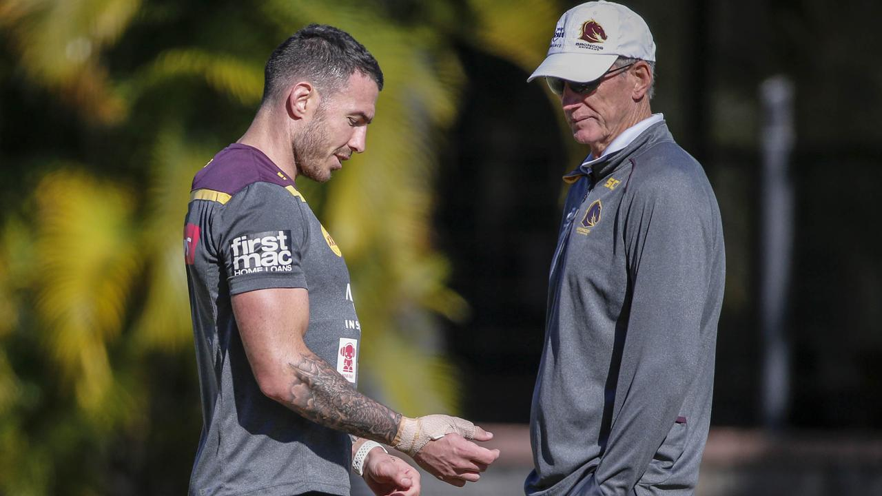 Darius Boyd and Wayne Bennett have shared a close bond right throughout Boyd's career. Picture: AAP Image/Glenn Hunt
