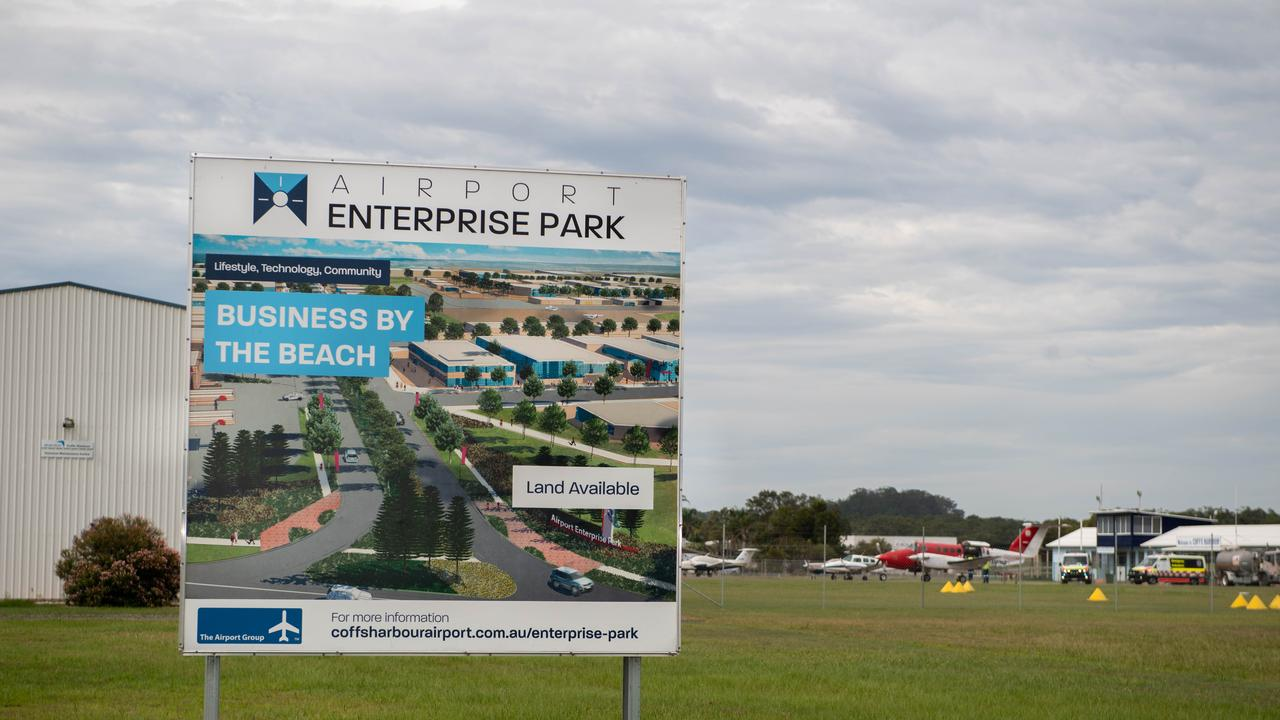 The site of the proposed Airport Enterprise Park.