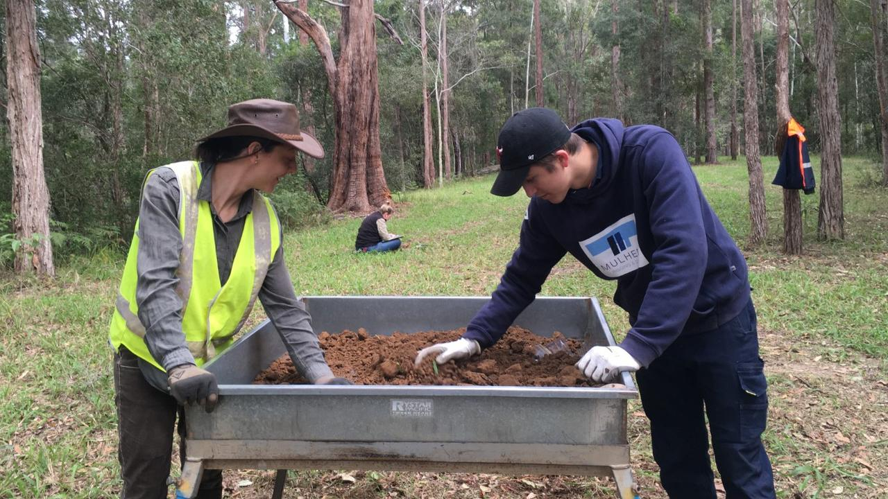 Cultural heritage excavations took place as part of the preparation work for the Environmental Impact Statement for the proposed raising of Clarrie Hall Dam.