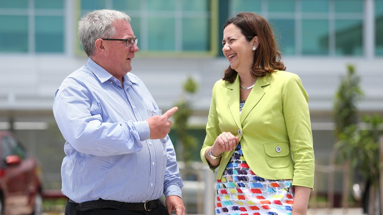 Opposition leader Annastacia Palaszczuk with Tim Mulherin in Mackay on her election campaign. Picture: Tara Croser.