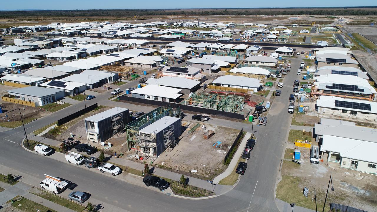 Aerial photos of a new development near Nirimba, southwest of Aura. Photo: Patrick Woods