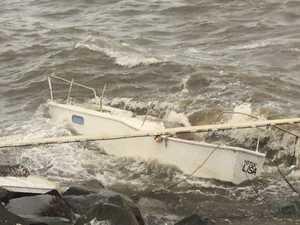 Phantom ship washes ashore in Moreton Bay